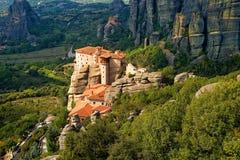 Roussanou-Kloster bei Meteora Lizenzfreies Stockfoto