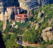 Roussanou Kloster bei Meteora, Griechenland Stockfotografie
