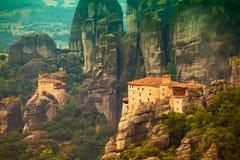Roussanou Monastery Stock Photo