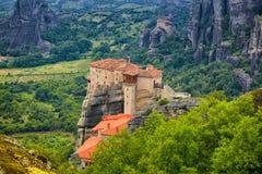 Roussanou Monastery Stock Images