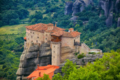 Roussanou Monastery Royalty Free Stock Photo