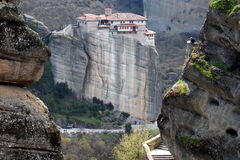 Roussanou monastery Stock Photos