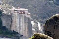 Roussanou monastery Stock Image