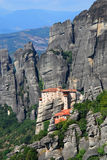 Roussanou Monastery at Meteora, Greece Royalty Free Stock Images