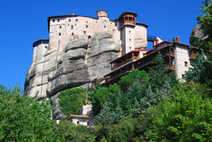 Roussanou monastery from Meteora, Greece. Royalty Free Stock Photo