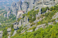 Roussanou Monastery at Meteora Monasteries, Greece Stock Photos