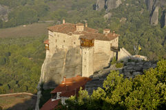 Roussanou monastery at Meteora Royalty Free Stock Photo