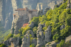 Roussanou monastery at Meteora Royalty Free Stock Image