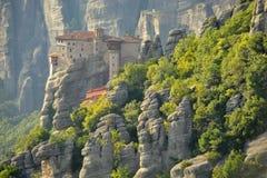 Roussanou monastery at Meteora Royalty Free Stock Image