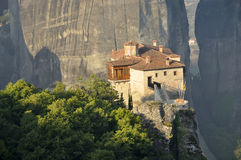 Roussanou monastery at Meteora Royalty Free Stock Images