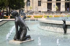 Rousse Fountains. Many amusing fountains in Rousse, Bulgaria Stock Image