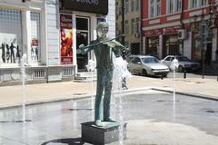 Rousse fountains. Many fountains to represent culture in Rousse, Bulgaria Stock Photos