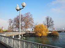 Rousseau Island, Geneva, Switzerland Stock Photography