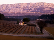 Rousset  village vineyards landscape Royalty Free Stock Image