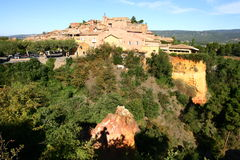 Roussilion panorama. In south France royalty free stock photos