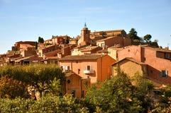 Roussillon法国村庄  免版税库存图片