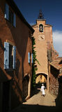 Roussillon. Houses and tower in Roussillon, Provence Royalty Free Stock Photos