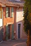 Roussillon-Dorf Stockfoto