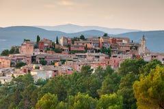 Roussillon-Dorf, Provence, Frankreich Lizenzfreies Stockbild