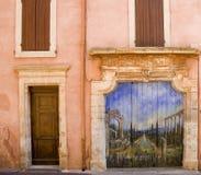 Roussillon-Fassade Stockfoto