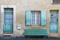 Roussillon facade Royalty Free Stock Photo