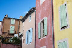 Roussillon facade Royalty Free Stock Images