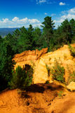 Roussillon ochre mines Royalty Free Stock Photos