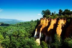 Roussillon ochre mines Royalty Free Stock Photography