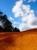 Roussillon ochre quarry stock image