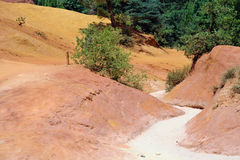 Roussillon ochre quarry (Luberon) Stock Images