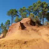 Roussillon ochre quarry Royalty Free Stock Photo