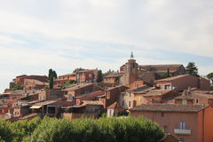 Roussillon, the ochre village Stock Photos