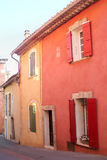 Roussillon, Provence, France- colorful houses Royalty Free Stock Photography