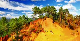 Roussillon, Provence, Frankreich Lizenzfreies Stockfoto