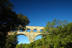 Roussillon, Vaucluse, France - view at the Pont du Gard Aqueduct Royalty Free Stock Photos
