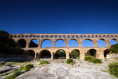 Roussillon, Vaucluse, France - view at the Pont du Gard Aqueduct Royalty Free Stock Images