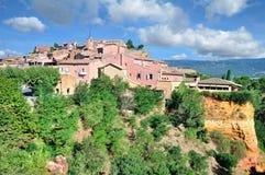 Roussillon Vaucluse, Luberon, Provence, Frankrike Arkivbilder