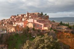 Roussillon village in France Stock Photo