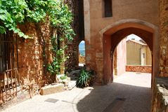 Roussillon village, France Royalty Free Stock Image