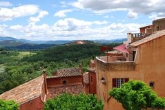 Roussillon village, France Stock Photos