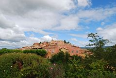 Roussillon village, France Stock Photography