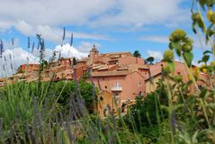 Roussillon village, France Royalty Free Stock Photos