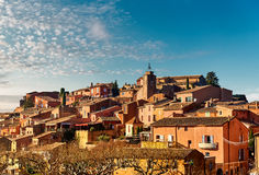 Roussillon village in France. Roussillon village. One of the most impressive villages in France royalty free stock photo
