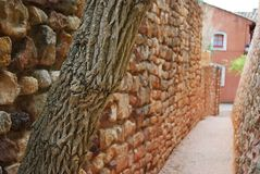 Roussillon village, France Royalty Free Stock Photo