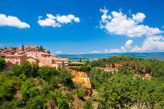 Roussillon village near Gordes, Provence, France Stock Image