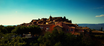 Roussillon wioska Zdjęcia Royalty Free