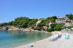 Roussoum Gialos beach in Alonissos island, Greece. Roussoum Gialos beach in Alonissos island, Sporades, Greece royalty free stock photo