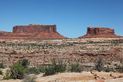 Dead Horse Point. The Rout 313 looks back to The Lsland on the Sky royalty free stock photos