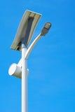 Route à énergie solaire de poteau léger Photo stock