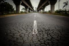 Route à Bangkok de la Thaïlande Image libre de droits
